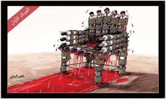 كاركاتير يصور حقيقة مجزرة رابعة يحصد صدارة المسابقة العربية