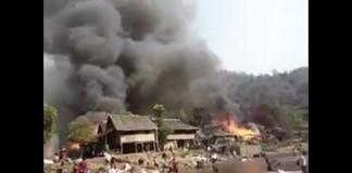 هكذا تحرق منازل المسلمين في بورما المنسية