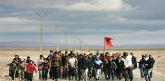 ساكنة جماعة آيت بازة بإيموزار مرموشة تنتفض ضد التهميش والحـﮕرة