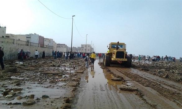 السلطات بسلا بدأت تنظيف الطريق.. وإجراءات أمنية توقعا لأي هيجان مفاجئ