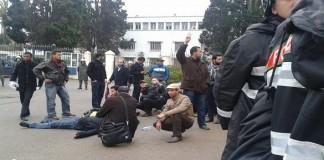 إصابات واعتقالات في صفوف الأساتذة المعتصمين بالرباط