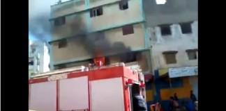 حريق منزل في دار الحمراء بمدينة سلا بسبب التيار الكهربائي وعملية إطفائه..