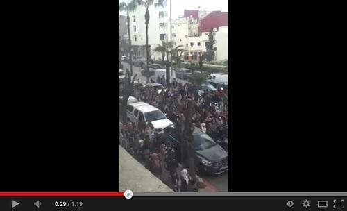 احتجاجات تلاميذ مدينة طنجة ضد برنامج مسار