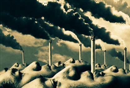 المدخنون فوهة معامل تقذف السم وتلوث الجو