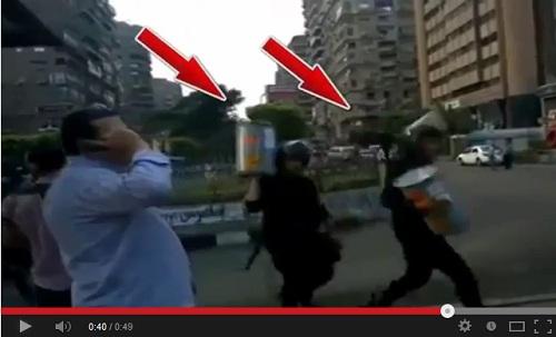 فيديو يعرض لأول مرة.. لحظة دخول البنزين لحرق جثث الشهداء فى رابعة