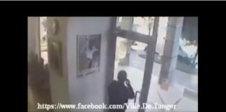 فيديو عملية سرقة الوكالة البنكية في طنجة