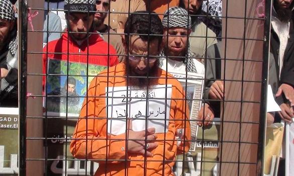احتجاج أسر المعتقلين الإسلاميين في الذكرى الثالثة لاتفاق 25 مارس بالرباط