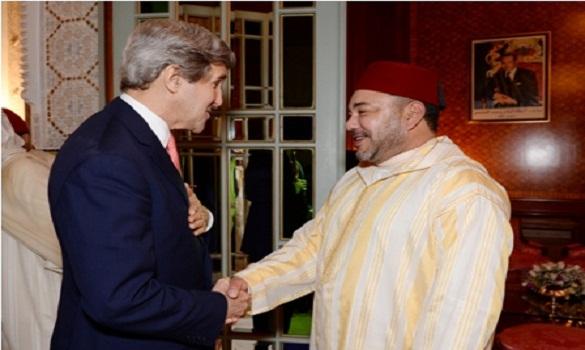 الملك محمد السادس يسلم كيري ملف خروقات الكيان الصهيوني