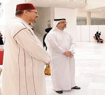 الدكتور محمد الروكي رئيس جامعة القرويين يؤسس للتعاون مع جامعة البحرين