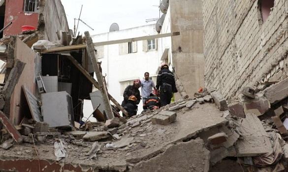 ارتفاع حصيلة فاجعة عمارات بوركون بالبيضاء إلى 8 قتلى، و17 مصابا لا زالوا بالمستشفى