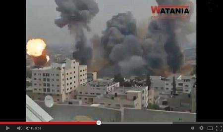 20 ثانية تكفيك لتبين لك قوة القصف الصهيوني على غزة