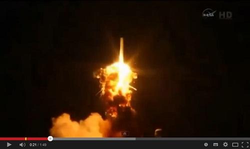 فيديو.. انفجار صاروخ لوكالة ناسا أثناء إطلاقه