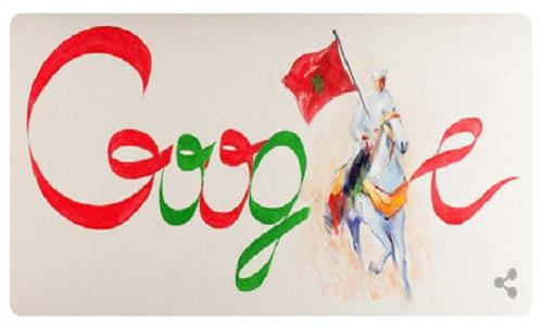 «غوغل» يحتفل مع المغاربة بالذكرى 58 لعيد الاستقلال