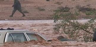 مياه التساقطات المطرية اليوم تحاصر دواري أسرير وتغمرت بإقليم كلميم