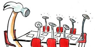 كاريكاتير الشخصية السلطوية في الإدارة