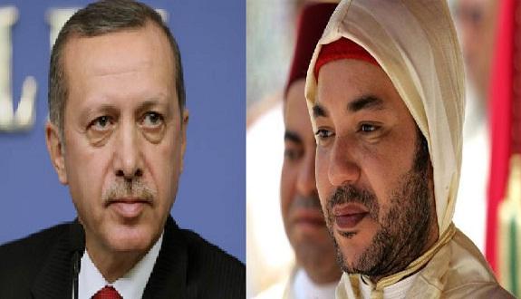 الملك محمد السادس يتلقى اتصالا هاتفيا من الرئيس التركي