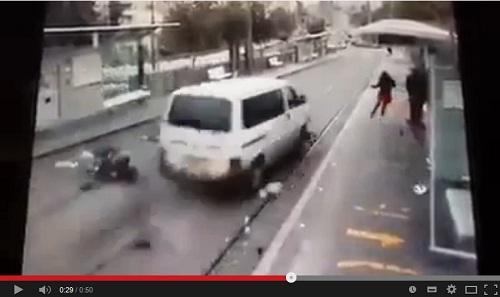 فيديو حادثة دهس مستوطنين في القدس 05-11-2014