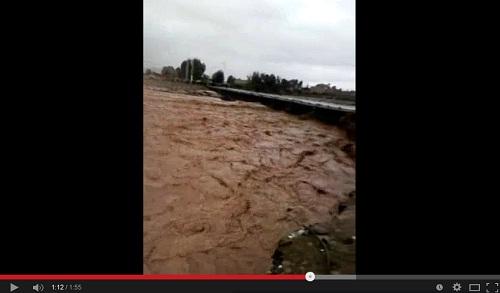 فيضان وقنطرة تهدمت والدراسة توقفت.. آيت اورير في مشكلة كبيرة