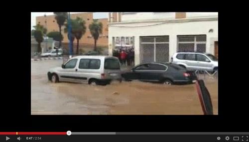 أولاد تايمة تغرق هي الأخرى في مياه الفيضانات والأمطار