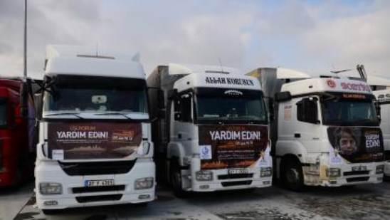 إسطنبول ترسل 134 شاحنة مساعدات للسوريين.. حملة «أشعر بالبرد، ساعدني»