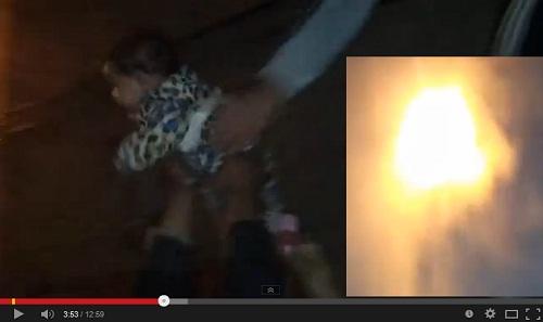 عملية إنقاذ عائلة من حريق في حي سيدي موسى بسلا تحت أنظار رجال المطافئ