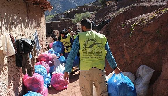 منتدى الشروق ينظم قافلة للمساعدات وحملة طبية لدواوير بجبال الأطلس الكبير