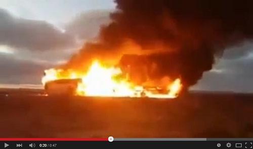 فيديو جديد يوثق فاجعة 10 أبريل مباشرة بعد الاصطدام.. وصراخ أحد الأطفال