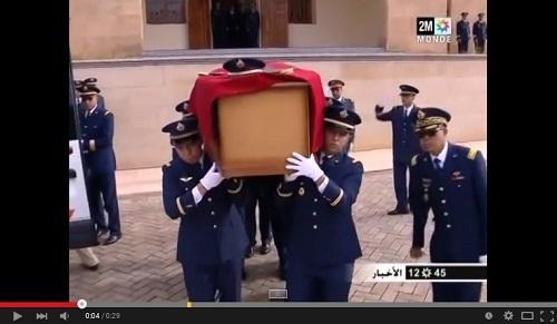 استقبال جثمان الطيار المغربي ياسين بحتى في مطار سلا-الرباط