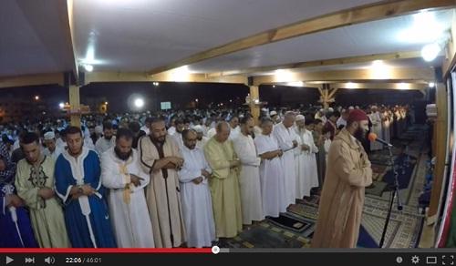 الليلة الكاملة للشيخ عبد العزيز الكرعاني بمصلى حي الإنبعاث بسلا