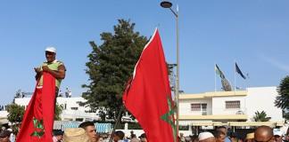احتجاج المغاربة أمام سفارة السويد بالرباط