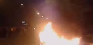 حرق حاويات أزبال بالرباط في شعايلة