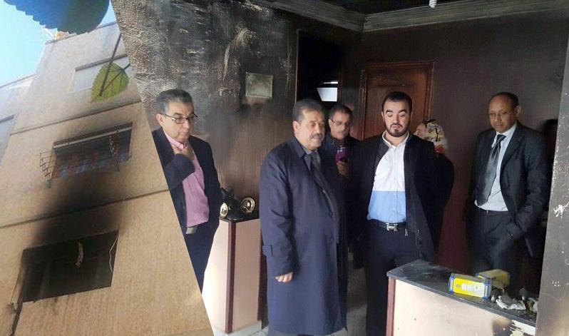 شاحن هاتف يتسبب في حريق مهول بمنزل مفتش حزب شباط بتطوان