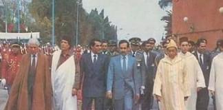 صورة من أرشيف الملك الراحل الحسن الثاني رفقة القادة المغاربة الذين انسحب بساط الحكم من تحت أرجلهم