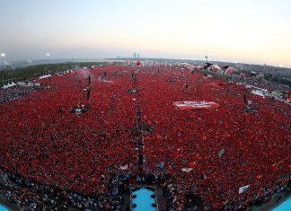 """5 ملايين مشارك في تجمع """"الديمقراطية والشهداء"""" بإسطنبول"""