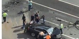 شاهد.. تحطم سيارة الرئيس الروسي بوتين ومقتل سائقه الخاص في حادث مروع