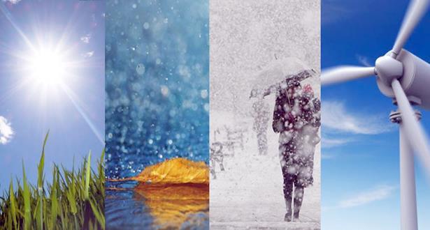 توقعات أحوال الطقس ودرجات الحرارة المرتقبة الثلاثاء