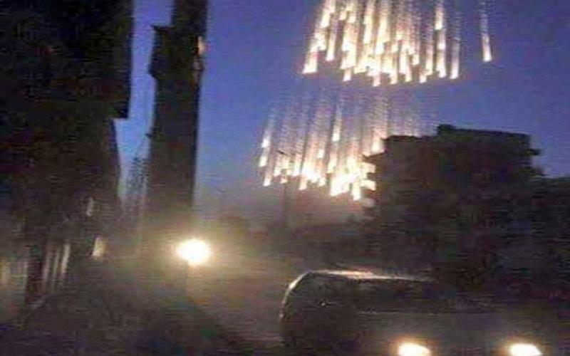 روسيا تحرق ريف حلب بالفوسفور الأبيض