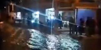 لحظة وصول سيول فيضانات واد سيدي احمد لمركز مدينة اليوسفية