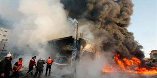 انفجار وحرائق ونيران بالتزامن مع صلاة الجمعة في أكادير