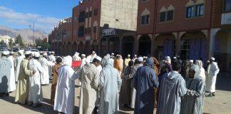وقفة أئمة وخطباء مساجد تنغير أمام المندوبية اليوم استنكارا لتوقيف الخطيب لحسن ياسين