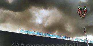 إطلاق نار كثيف ينتهي بحرائق ضخمة في مطار بندر عباس في إيران