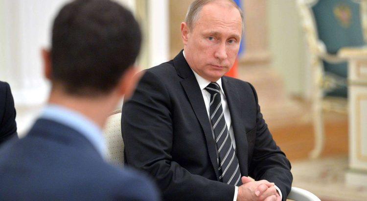 بشار يعزي بوتين في قتلى الطائرة الروسية ويصفهم بالشهداء