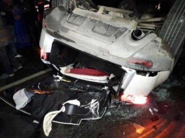 سقوط سيارة من فوق قنطرة بالدار البيضاء