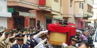 جنازة رسمية بفاس لموظفي الشرطة الأربعة، شهداء الواجب الوطني