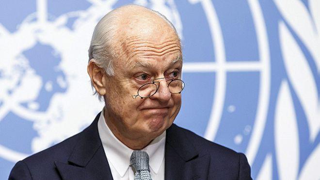 دي ميستورا يطالب المعارضة بالقبول بالمخطط الدولي لمستقبل سوريا