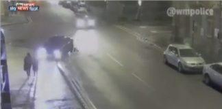 شاهد سائق سيارة يصدم فتاة بشكل متعمد في بريطانيا ويلوذ بالفرار