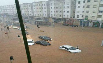 بالفيديو والصور.. سلا تغرق بالأمطار.. وحركة السير متوقفة في عدد من شوارعها