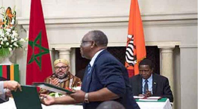 الملك ورئيس زامبيا يترأسان مراسم التوقيع على 19 اتفاقية
