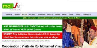موقع مالي: الملك يزور باماكو الأسبوع المقبل