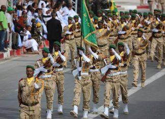 """الجيش الموريتاني يجري مناورات حربية بجوار """"الكركرات"""""""
